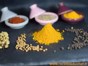 Epices pour faire du curry