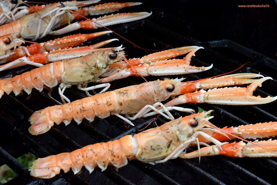 langoustines barbecue
