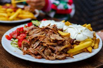 assiette kebab maison au boulgour