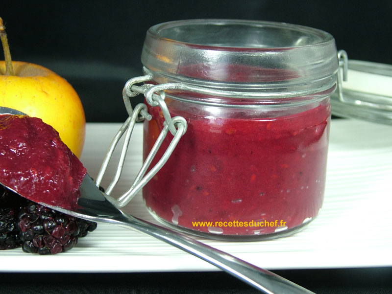 compote pomme mure