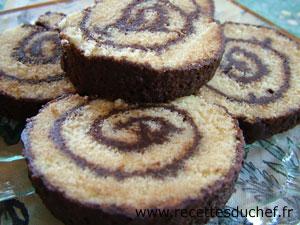 Gateau roule au chocolat pour noel
