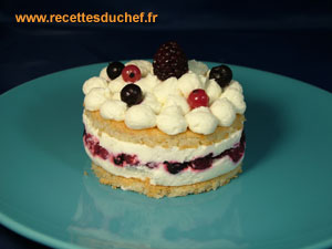 dacquoise fruits rouges