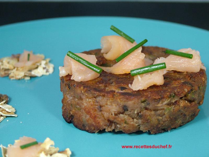 Galette de flocons de ch taignes et saumon fum for Flocon poisson