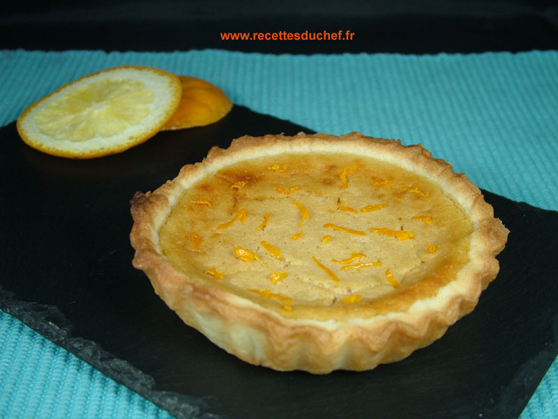 tarte orange ricotta