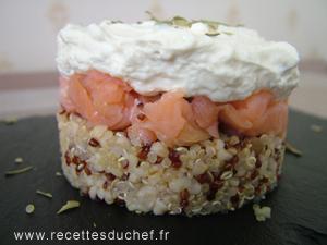 verrine quinoa saumon