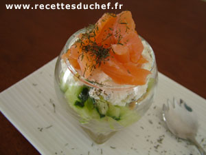 verrine concombre saumon cr