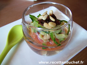 verrine courgettes tomates