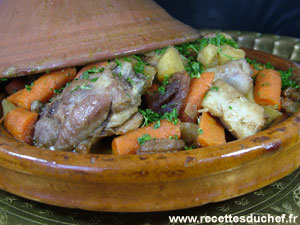 tajine canard fruits secs